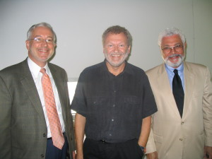 (L-R:  Ed Bogucz, SyracuseCoE, Bjarne Olesen, Technical University of Denmark, Ezzat Khalifa, Syracuse University)