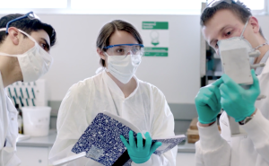 Graduate Research Assistants from the COMER Lab conduct fuel cell research.