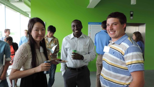 Like-minded young professionals from Central NY gather at SyracuseCoE for a casual summer 2015 networking event.
